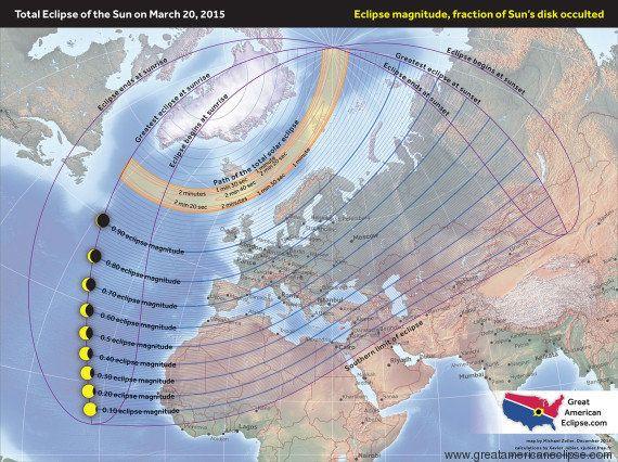 Cómo y dónde ver el eclipse solar del 20 de marzo de