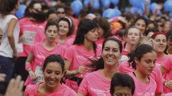 Marea rosa: 30.000 mujeres corren en Madrid contra el cáncer