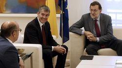 Rajoy recibe a Coalición Canaria para sondear apoyos a su