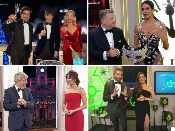 Las campanadas de La 1 fueron las más vistas y Antena 3 consiguió su mejor dato en 12