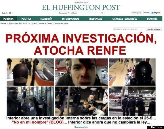 Cifuentes multa a dos fotógrafos por inmortalizar la carga policial en la estación de Atocha el
