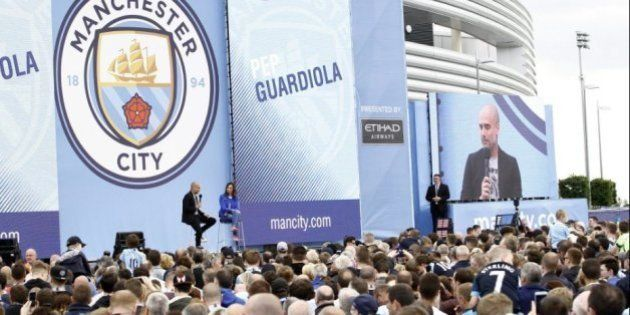 Así ha sido la presentación de Pep Guardiola con el Manchester City