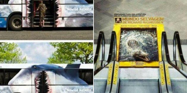 Anuncios que te alegrarán el viaje en transporte público
