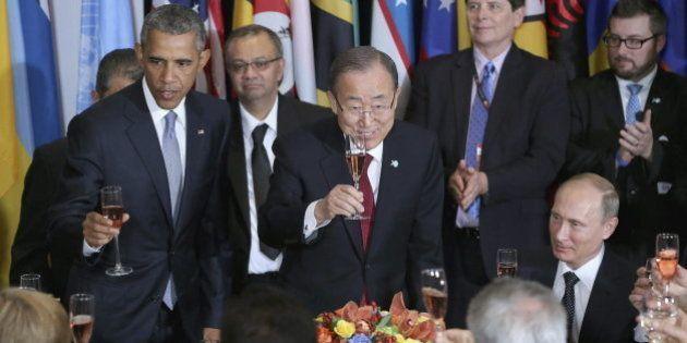 Así es el menú que se sirvió a los líderes mundiales en la ONU: a base de