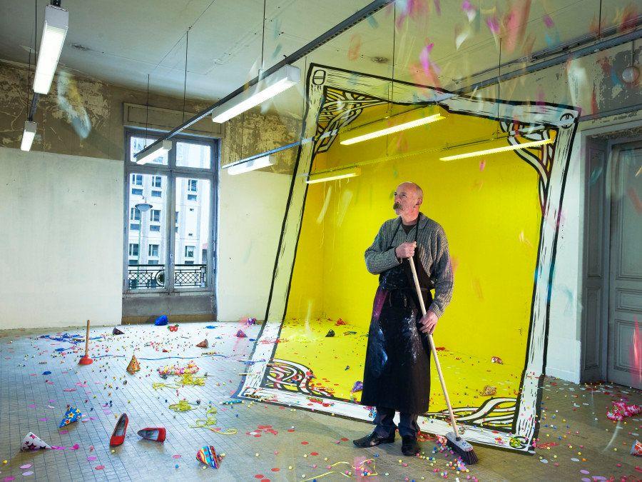 Ilusiones ópticas: arte en edificios abandonados por Ella & Pitr