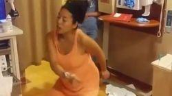El baile de una madre para aliviar el dolor de las contracciones
