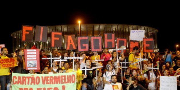Masivas protestas en Brasil contra los altos gastos del Mundial de