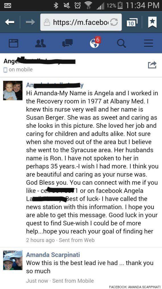 Encuentra a la enfermera que cuidó de ella hace 38 años gracias a esta