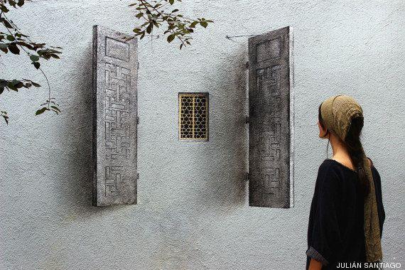 Ruta por los tres trampantojos del artista urbano español Pejac en Estambul