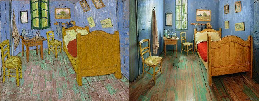 'El dormitorio en Arlés' de Van Gogh es real y se puede alquilar en Chicago