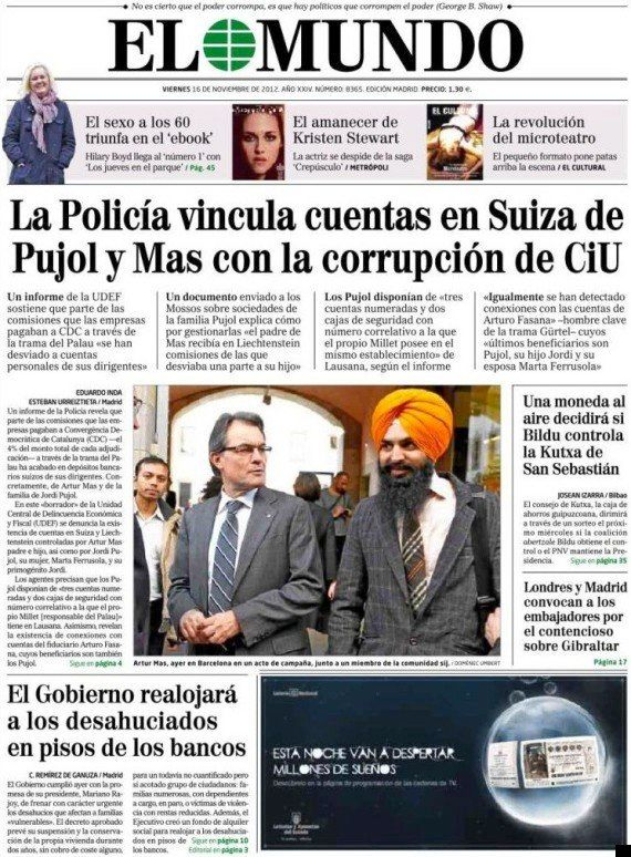 El fiscal del Tribunal Superior de Justicia de Cataluña abre diligencias contra 'El Mundo' por