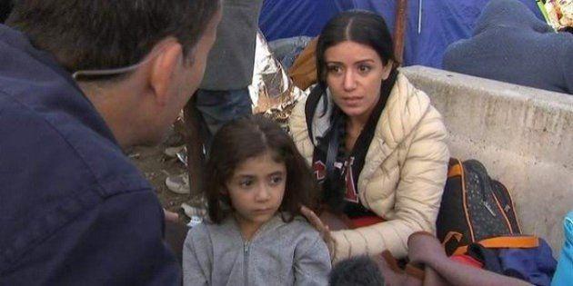 El viral vídeo de una madre refugiada clamando por la seguridad de su