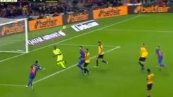 Kameni, héroe con este paradón a Neymar en el último