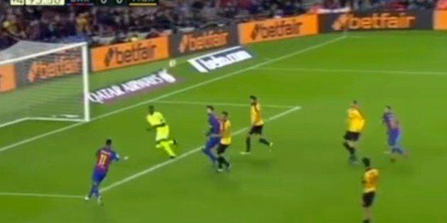 Kameni, héroe del Málaga con este paradón a Neymar en el último