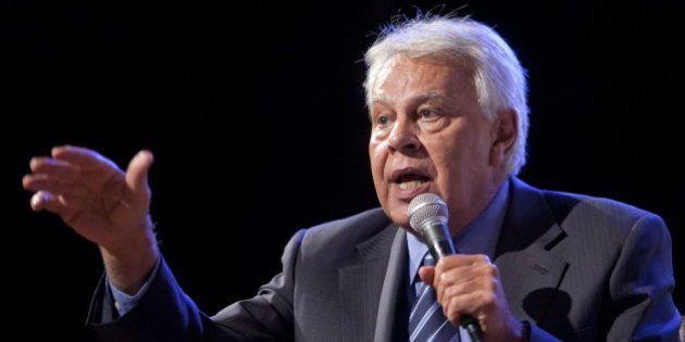 Felipe González pide perdón por abogar por una gran coalición entre PP y
