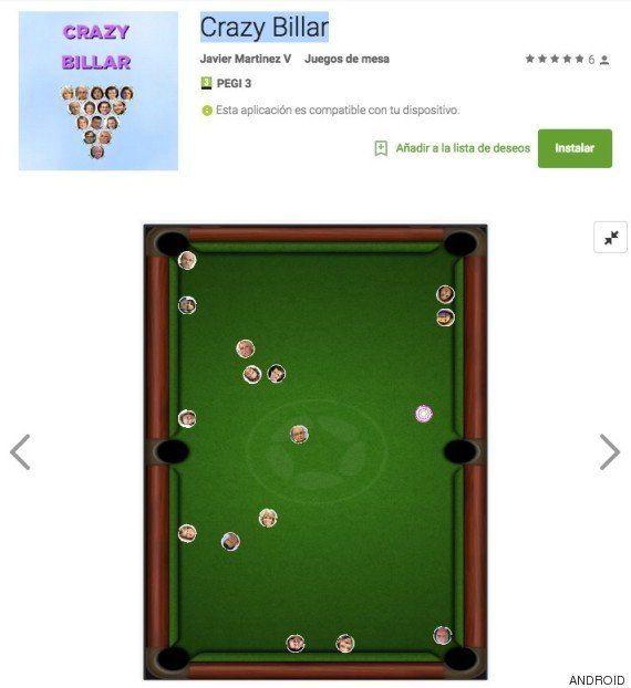 'Crazy Billar', el juego creado por un miembro de Podemos para meter a los políticos en el
