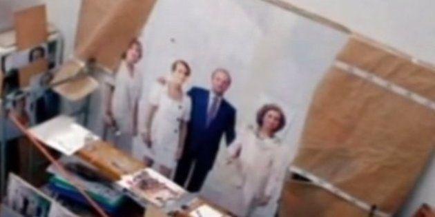 Antonio López termina su retrato de la Familia Real tras 20
