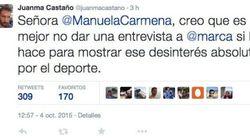 Juanma Castaño se lleva un revolcón en Twitter por criticar a