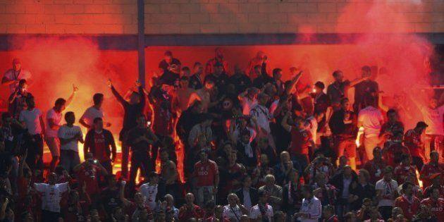 La UEFA expedienta a Atlético de Madrid y Benfica por el lanzamiento de