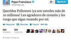 Así celebra el papa sus 10 millones de seguidores en