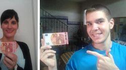 'Selfies' con un billete de 10 euros: no, la gente no se ha vuelto loca