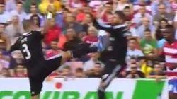 El fuerte choque al 'estilo De Jong' entre Pepe y Sergio Ramos