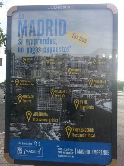 En Madrid, si emprendes, no pagas impuestos... (va a ser que