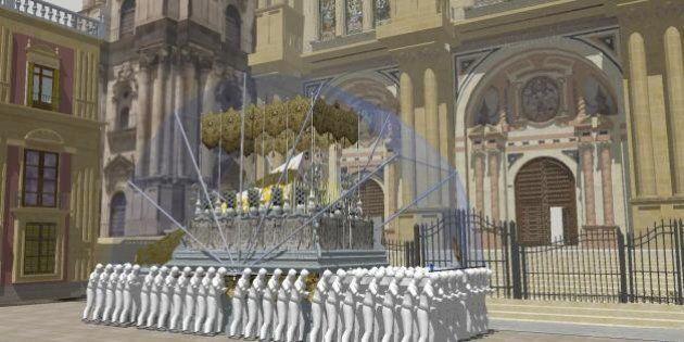 ¡Que llueva! Esta cubierta para tronos diseñada en Málaga protege la procesión del