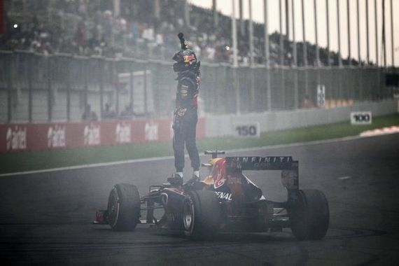 Sebastien Vettel ya es merecido cuádruple campeón del mundo de