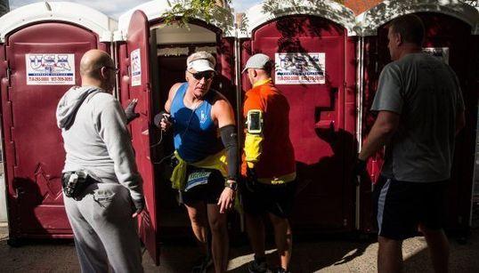 13 imágenes curiosas del maratón de Nueva York