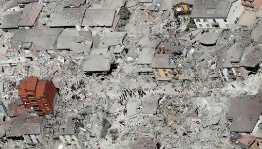 Las impresionantes imágenes aéreas de Amatrice tras el