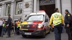 Tres heridos, dos de ellos graves, en un incendio en el Banco de