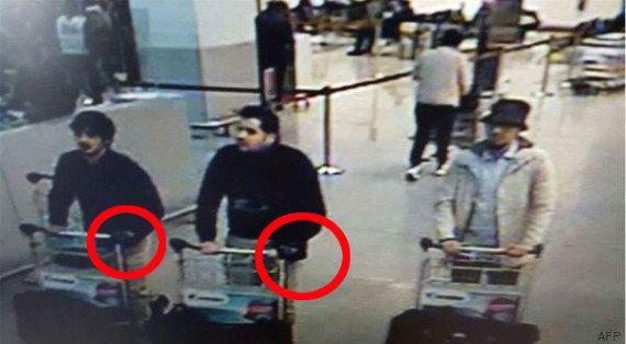 Las cámaras captan a los tres sospechosos del atentado en el aeropuerto de