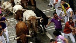 Cinco heridos tras el cuarto encierro de San Fermín, dos de ellos graves por