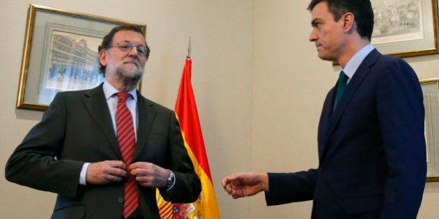 El saludo fallido de Pedro Sánchez a Rajoy
