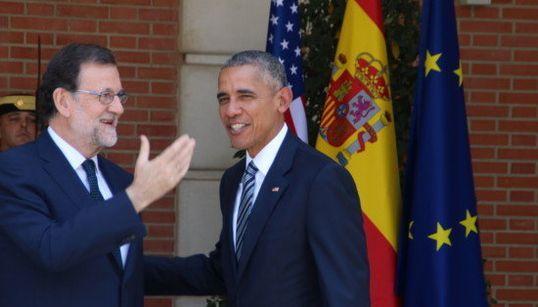 Saludos y sonrisas, el paso de Obama por Moncloa