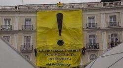 Greenpeace protesta en Sol contra la Ley de Seguridad