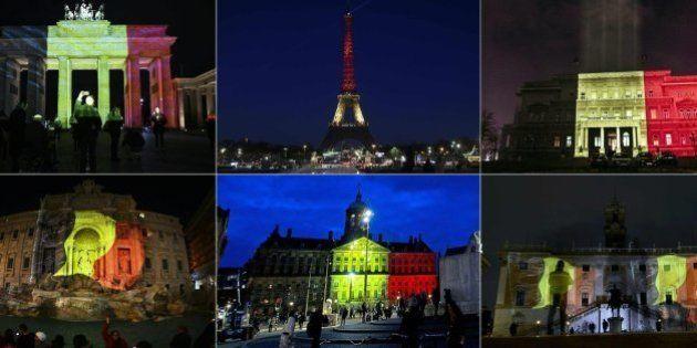 El mundo se ilumina con los colores de la bandera belga