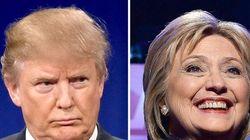 Clinton y Trump ganan en