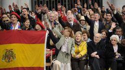 Manifestación franquista en Madrid en plenas elecciones catalanas