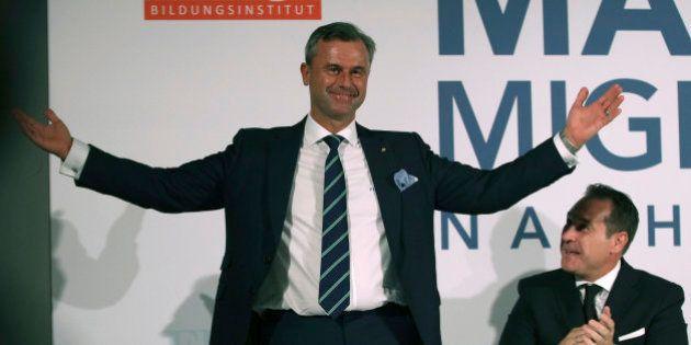 El candidato de la ultraderecha de Austria, a favor un referéndum sobre la