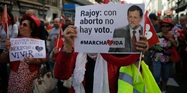 Las imágenes de las marchas antiabortistas que acusan al PP de