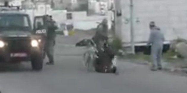 El brutal ataque de un guardia israelí a un palestino discapacitado
