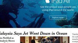 Este anuncio no está en el mejor sitio al lado de la noticia del avión
