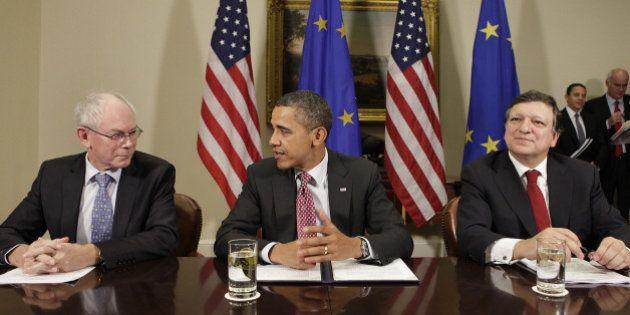 Obama escenifica en Bruselas la alianza entre EEUU y la UE frente a Rusia y pese al espionaje de la