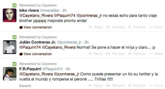 La caída de Cayetano Rivera en 'El Hormiguero' acaba en operación