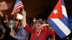 Exiliados cubanos celebran en Miami la muerte de