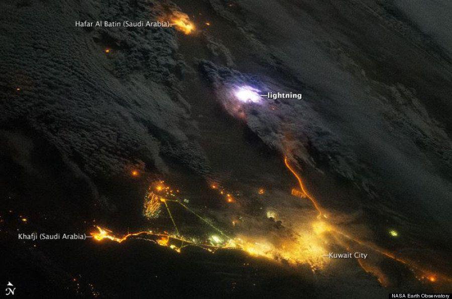 Un rayo visto desde el espacio