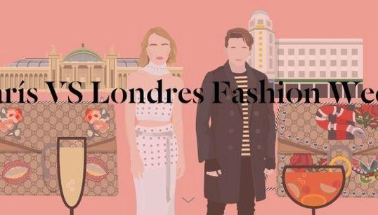 París contra Londres: ¿con qué semana de la moda te
