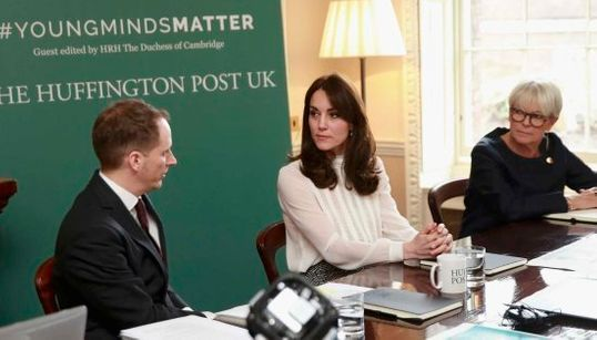 La duquesa de Cambridge, editora de 'The Huffington Post UK' por un